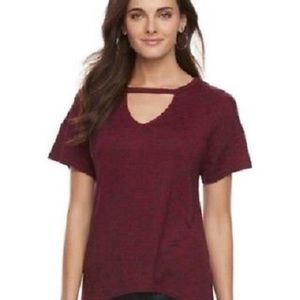 Juicy Couture Sangria Pull-over Shark Bite Top